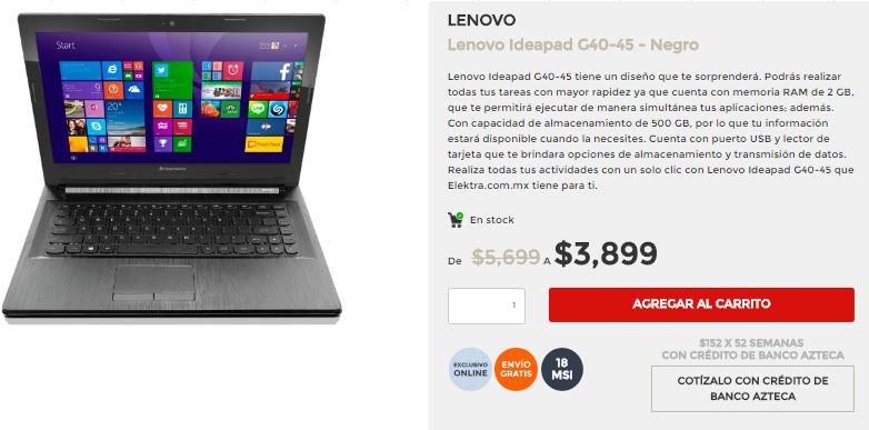 Elektra: Lenovo Ideapad G40-45