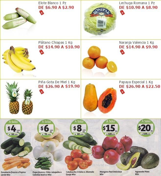 Soriana Híper y Súper: Miércoles 30 Noviembre: Elote $2.90 pza; Lechuga $8.90 pza; Plátano $10.90 kg; Naranja $9.90 kg; Piña $19.90 kg; Papaya $22.50 kg. y más