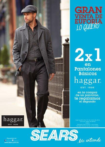 Sears: 2x1 en pantalones Haggar