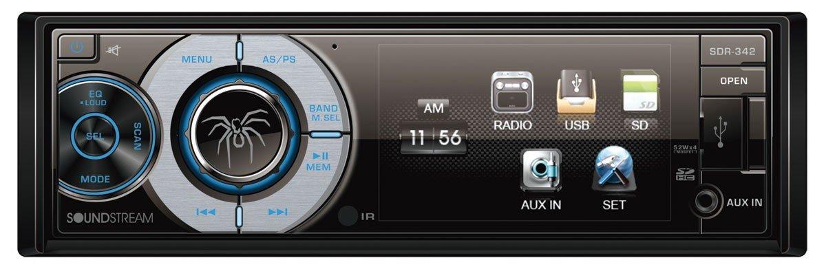 """Amazon: Estereo Soundstream SDR-342 Receptor digital de 1 Din con pantalla LCD de 3.4"""""""