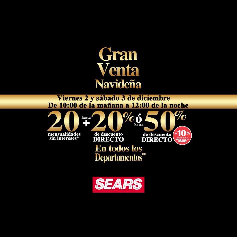 Sears: Venta Nocturna 2 y 3 Diciembre