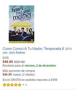 "Amazon: Toda la serie de ""How I Met Your Mother"" en $710.80 DVD"