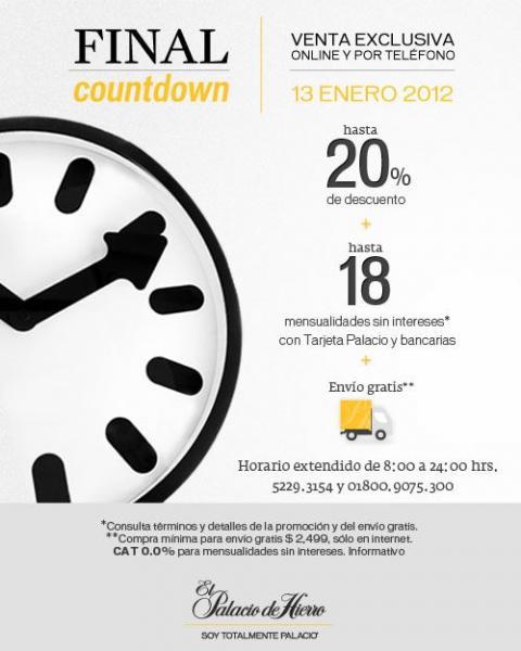 Palacio de Hierro: 20% de descuento, hasta 18 MSI y envío gratis (online y por teléfono)