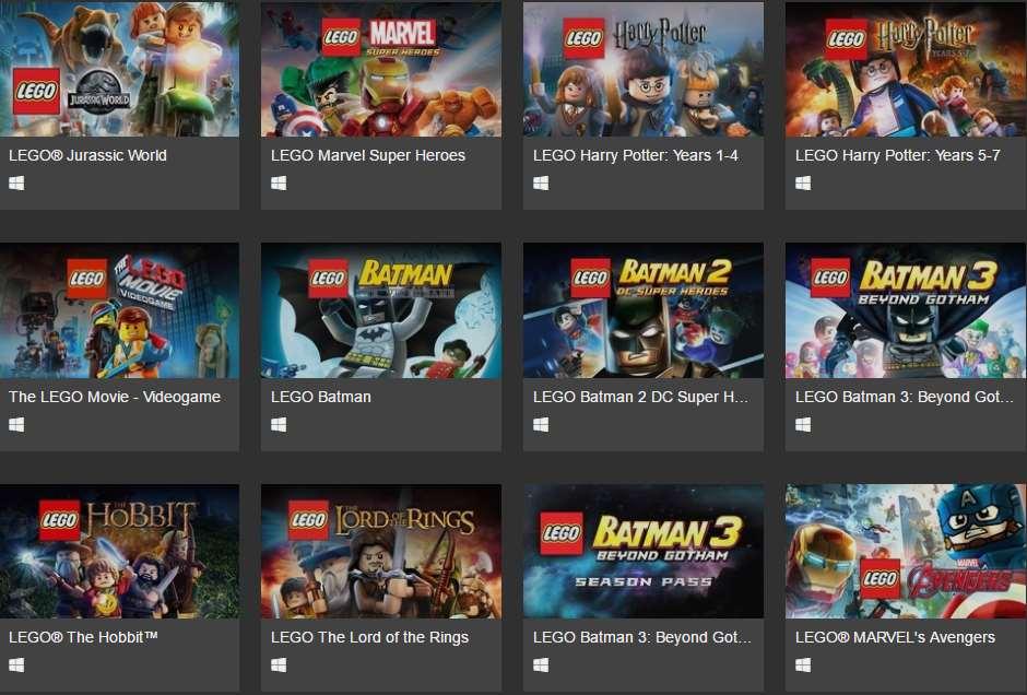 Elige 3 juegos de LEGO para Steam por 10 dólares