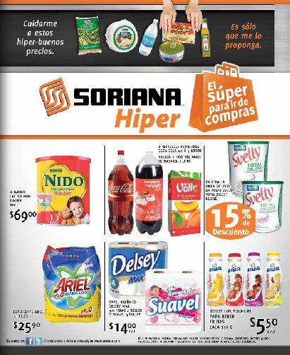 Folleto Soriana Híper: 20% de descuento en colchones, pesas, mancuernas, 3x2 en jugos Ades y más