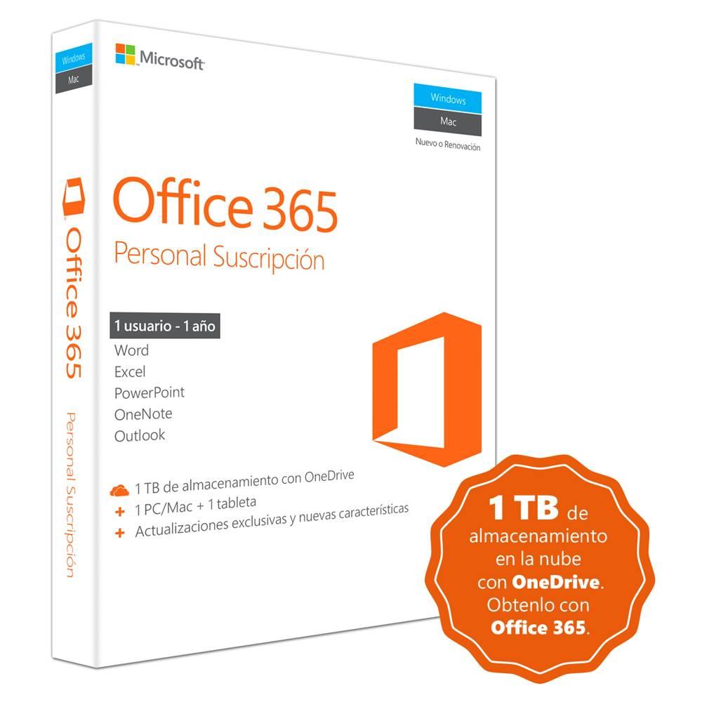 Walmart OnLine: Microsoft Office 365 Personal por 1 Año