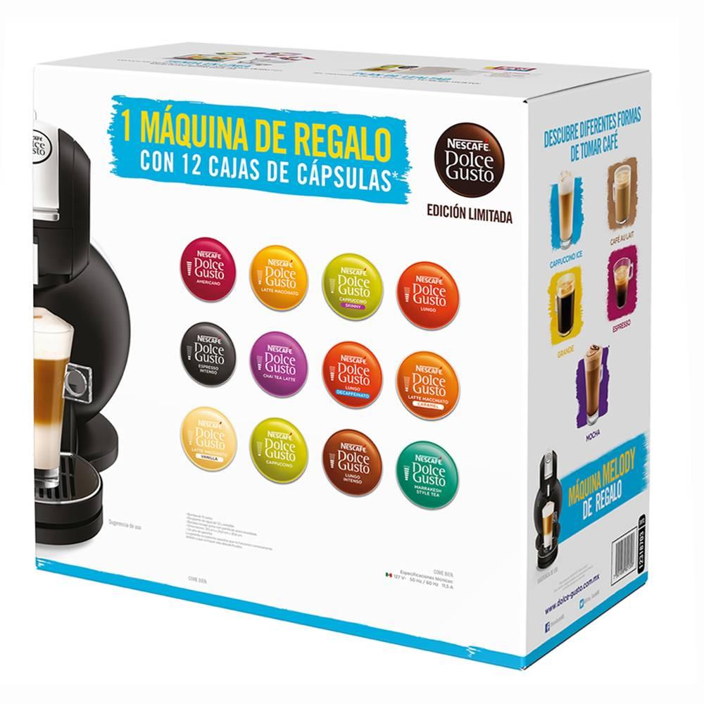 Walmart: cafetera Dolce Gusto Melody 3 negra + 12 cajas de cápsulas