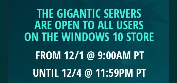 Microsoft Store: Gigantic servidor abierto por 4 dias