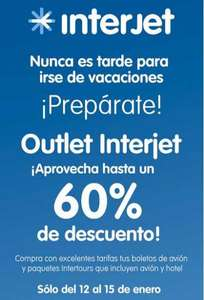 Outlet Interjet del 12 al 15 de enero