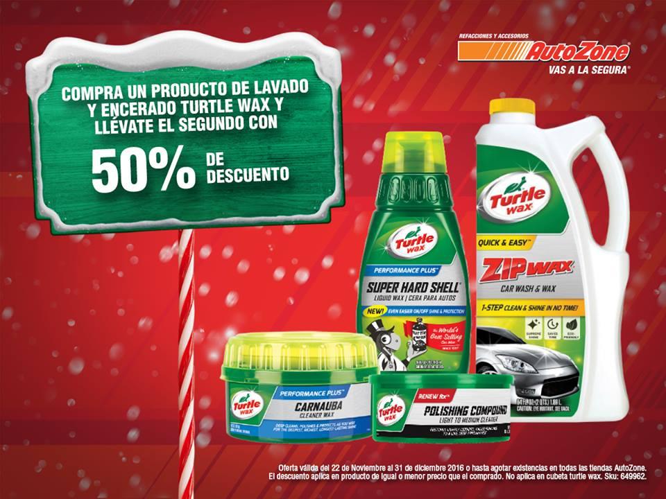 Autozone: compra un producto Turtle Wax y el segundo a mitad de precio