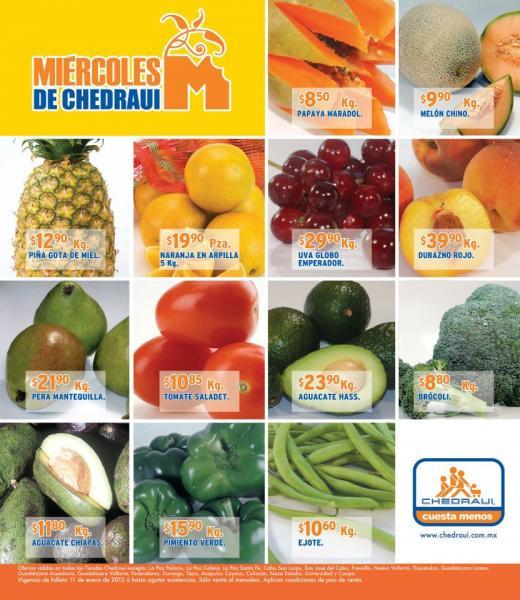 Miércoles de frutas y verduras Chedraui enero 11: limón $6.90 Kg, Elote $1.85 pza y más