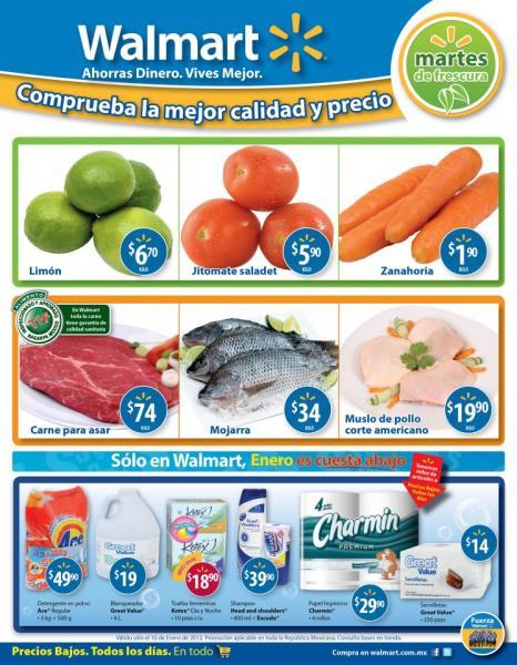 Martes de Frescura en Walmart enero 10: limón $6.70 Kg, zanahoria $1.90 Kg y más