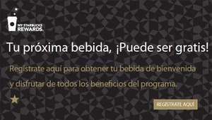 Starbucks: registra una Starbucks Card y recibe una bebiba gratis