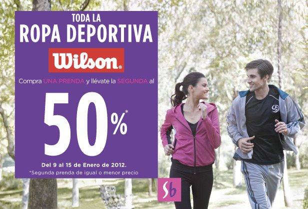 Suburbia: compra una y la segunda al 50% de descuento en ropa deportiva Wilson