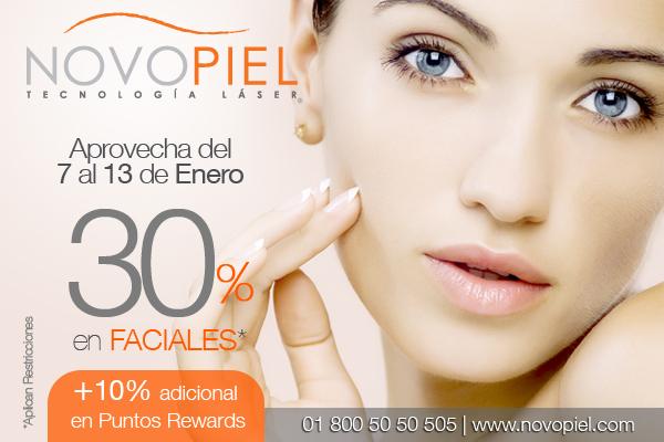 Novopiel: 30% de descuento en faciales
