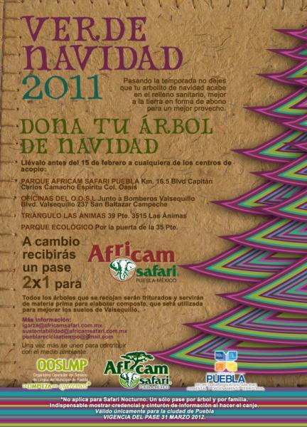 Africam Safari: 2x1 al donar tu árbol de navidad
