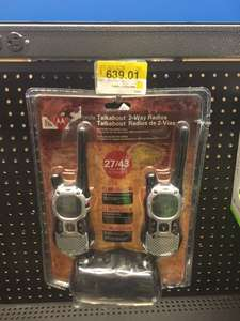 Walmart Cumbres: Radios Motorola Modelo MJ270R última liquidación a $639.01
