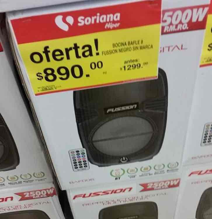 """Soriana: bocina Fussion 8"""""""
