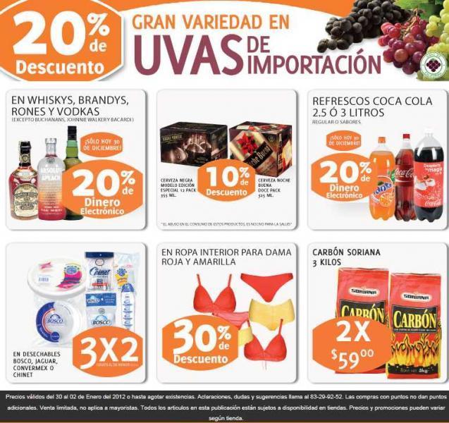 Soriana: 20% en monedero en licores, refrescos y más