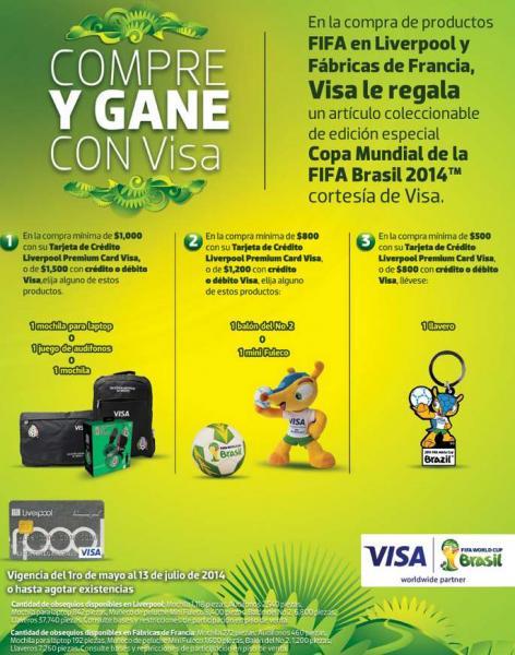 Liverpool: mochila o audífonos de la selección, balón o llavero del Mundial comprando con Visa