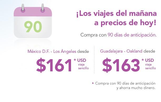 Volaris: México-LA desde $161 USD, Cancún-DF desde $1,511 y más