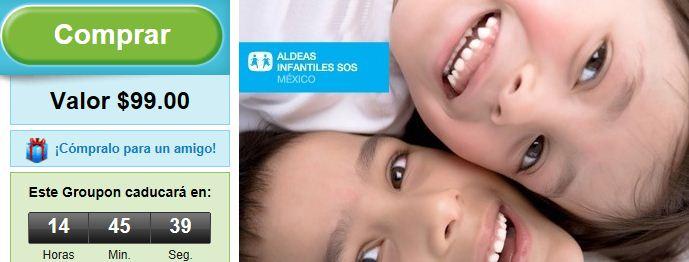 Groupon: dona $99 para aldeas infantiles SOS México y recibe $50 en créditos Groupon