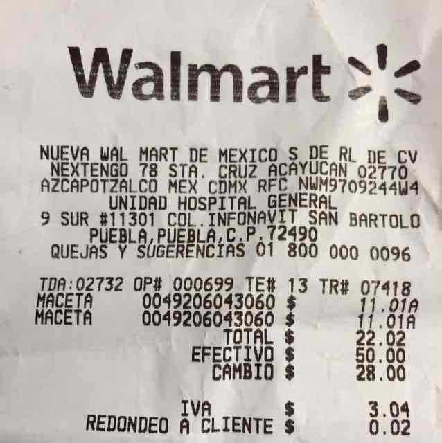 Walmart Hospital General: macetas de plástico última liquidación a $11.01