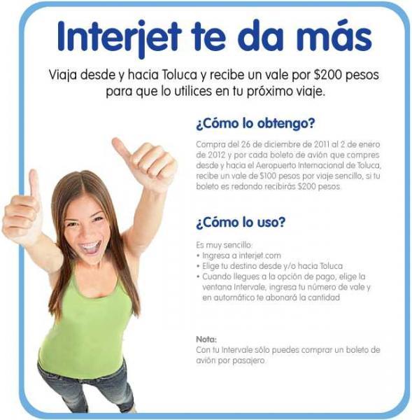 Interjet: viaje de o a Toluca y recibe $200 para tu próximo viaje