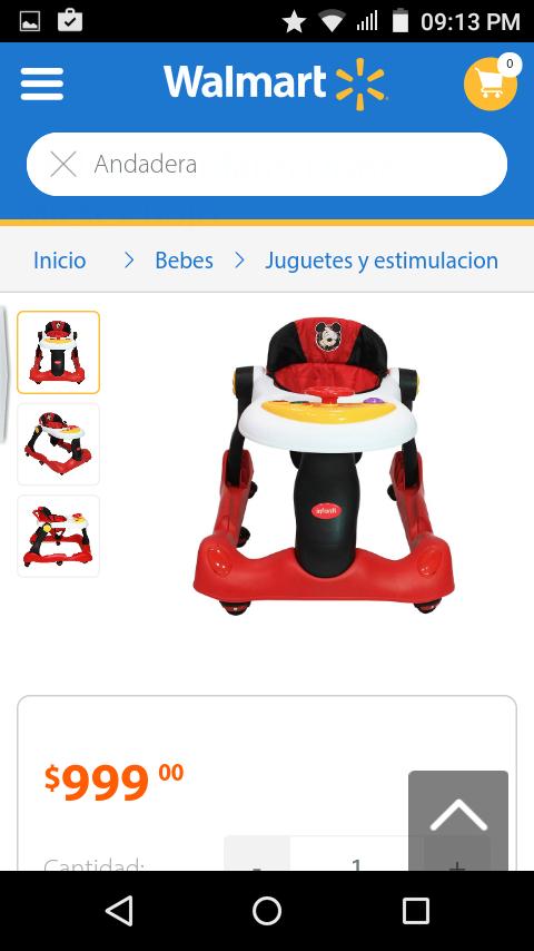 Walmart: andadera para bebe 2 en 1 a $300.03