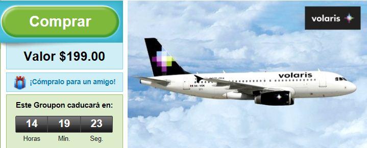 Groupon: paga $199 y obtén 60% de descuento en vuelos a LA, Oakland o San Diego con Volaris