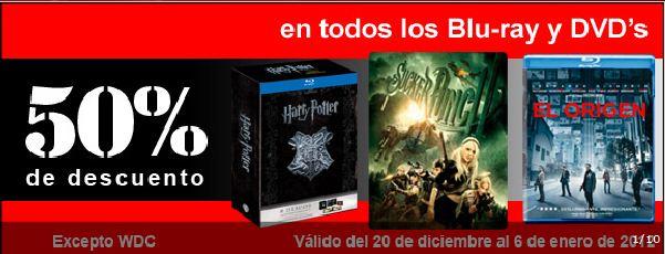 Sanborns: 50% de descuento en DVDs y Blu-rays también en tienda