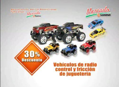 Mercado Soriana: 30% de descuento en vehículos de radio control y fricción y más