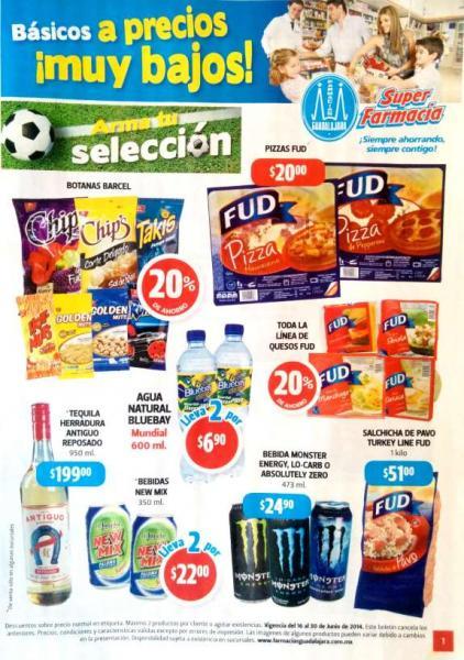 Folleto de ofertas Farmacias Guadalajara del 16 al 30 de junio 2014