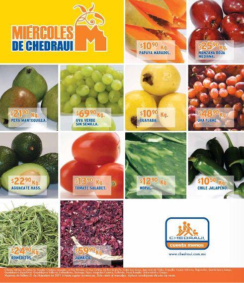 Miércoles de frutas y verduras Chedraui diciembre 21: Piña gota miel $9.90 Kg, Lechuga Romana $3.45 pza y más