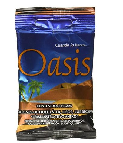 Amazon: Preservativos Oasis, paquete con 3 pzas