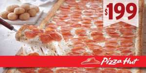 Pizza Hut: Big Hut de pepperoni a $199