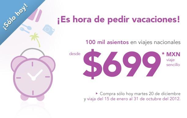 Volaris: vuelos nacionales sencillos desde $699 y a EUA desde $99 USD (oferta extendida)