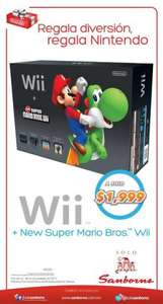 Sanborns: Wii a $1,999 y 12 meses sin intereses