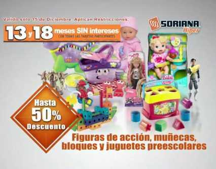 Soriana Híper: hasta 50% de descuento en juguetes, 20% en colchones, 13 y 18 MSI y más