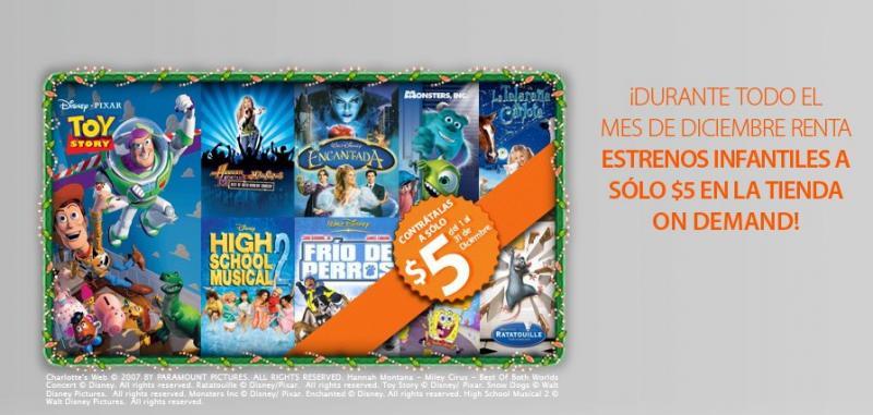 """Cablevisión México: """"estrenos"""" infantiles a $5 en la tienda On Demand"""