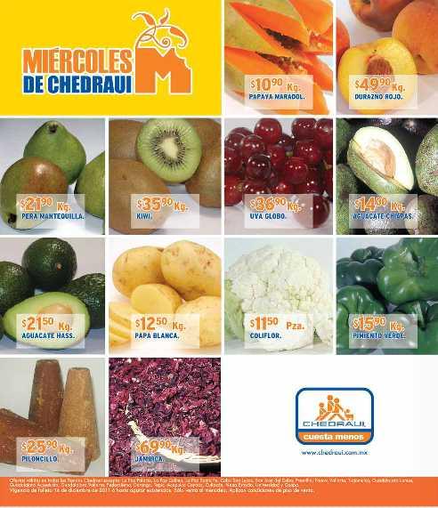 Miércoles frutas y verduras Chedraui diciembre 14: plátano $4.45, cebolla $5.40 y más