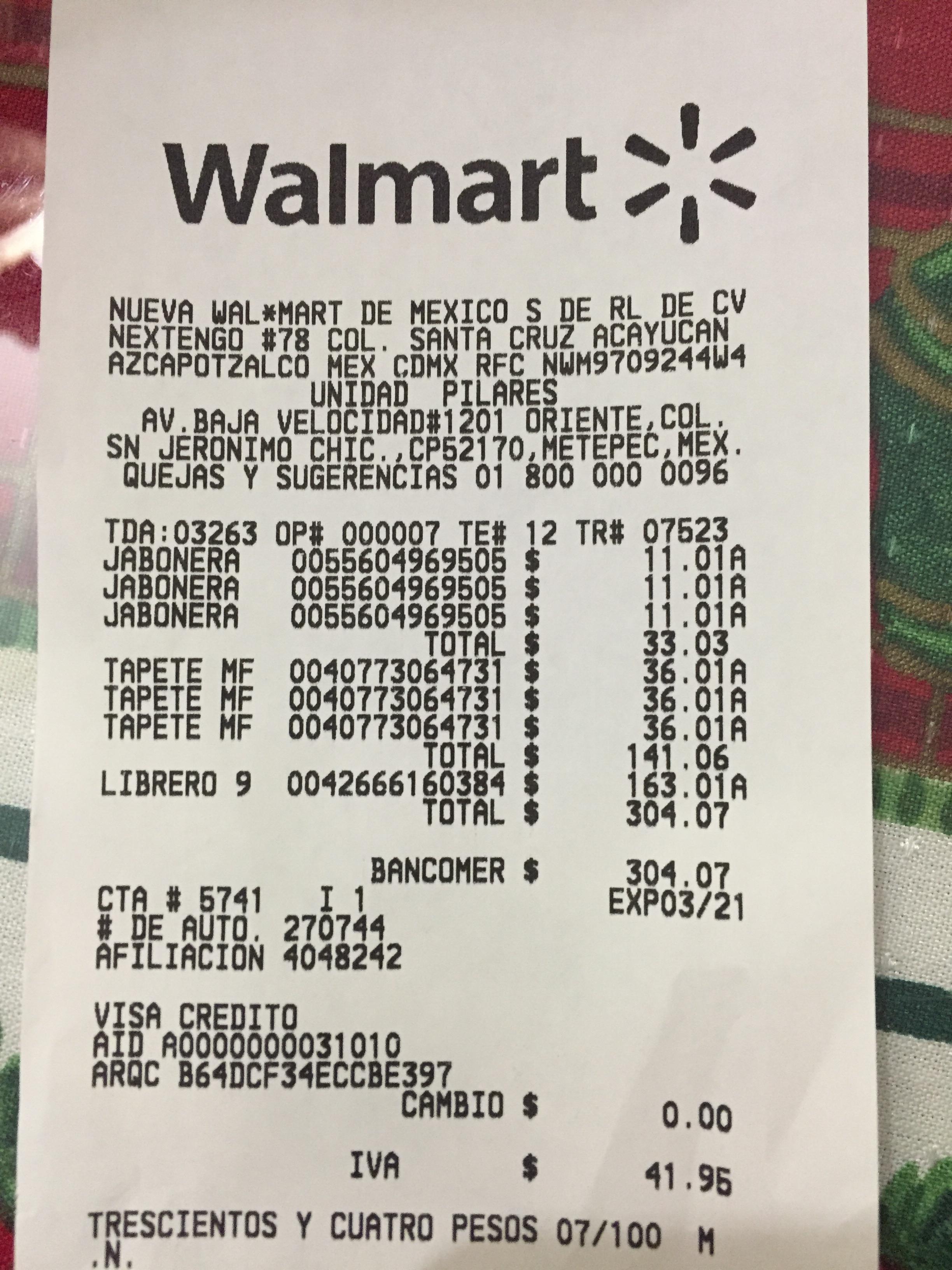 Walmart Pilares (Toluca): liquidaciones