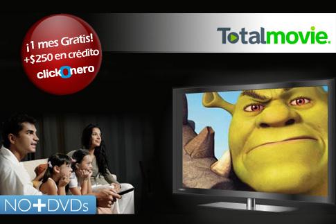 clickOnero: 1 mes de películas gratis en Totalmovie y $250 de crédito de regalo