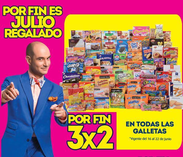 Julio Regalado en La Comer: 3x2 en galletas