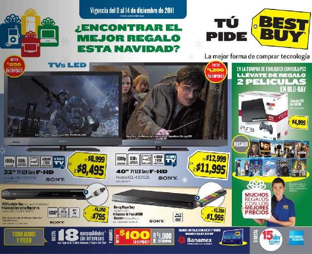 Folleto Best Buy: blu-ray con WiFi $995, descuentos en accesorios de cómputo y más