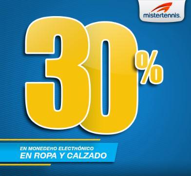 Mister Tennis: 30% en monedero en ropa y calzado