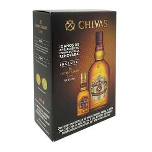 Walmart: Whisky Chivas Regal 12 años 750 ml más 1 botella Chivas Regal de 375 ml