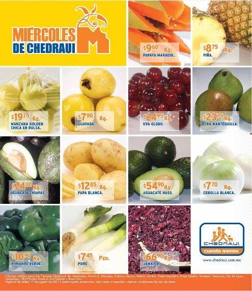 Miércoles frutas y verduras Chedraui diciembre 7: melón y pepino $4.65 y más