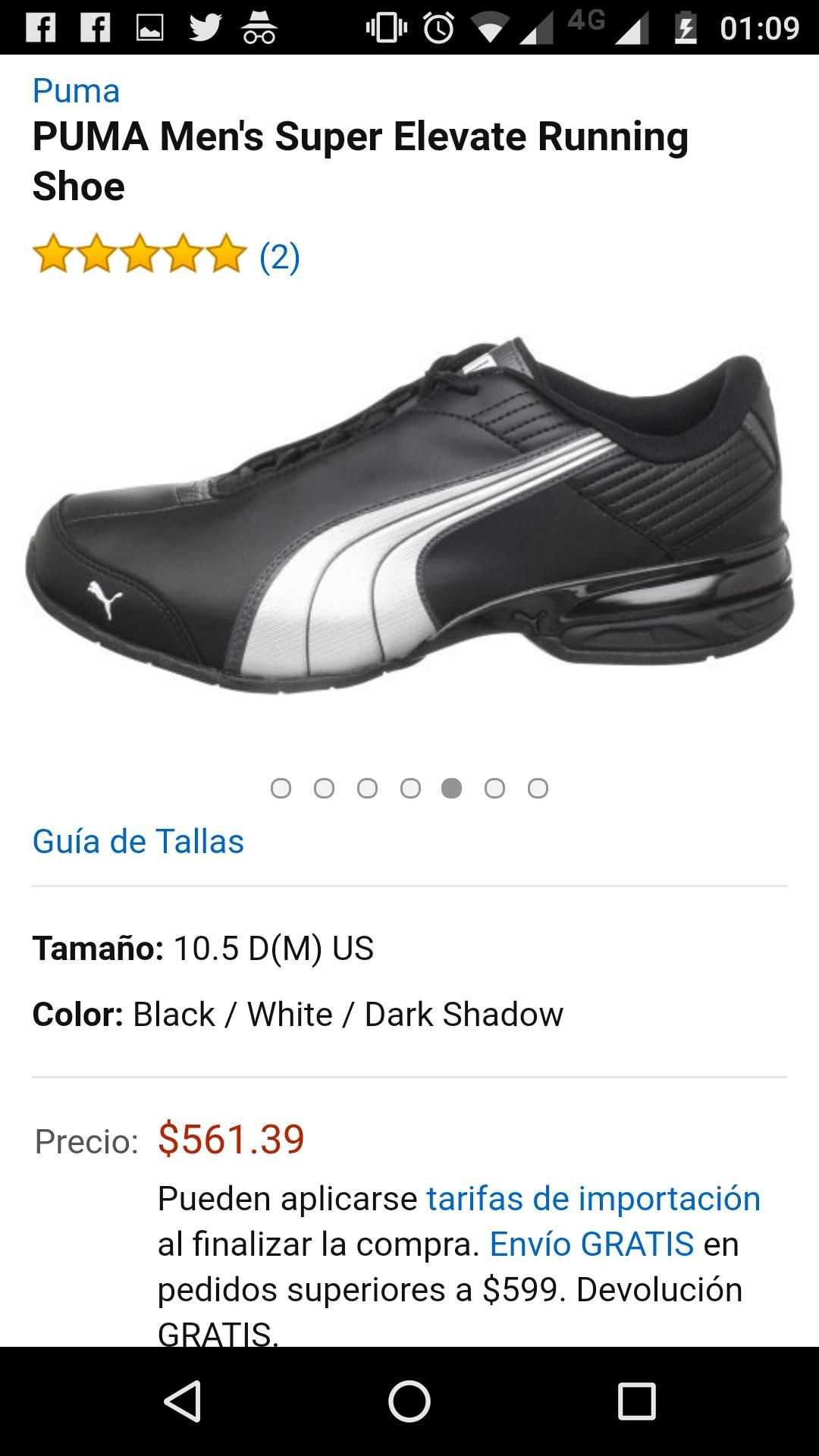 Amazon: tenis PUMA Men's Super Elevate Running