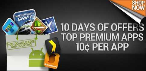 Android Market: aplicacones premium a 10 centavos de dólar